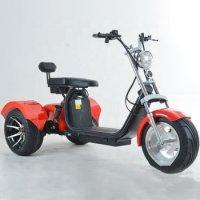 Трицикл EL-MONKEY (Красный) 2000W 60V20Ah(Li-ion) + 10 дюймов колеса