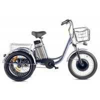 Трицикл Eltreco Porter Fat 500 (Серебристый-2409)