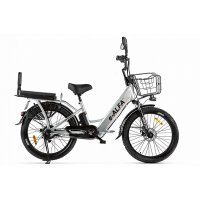 Велогибрид GREEN CITY e-ALFA Fat (Серебристый-2161)