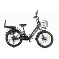 Велогибрид GREEN CITY e-ALFA Fat (темно-серый-2163)