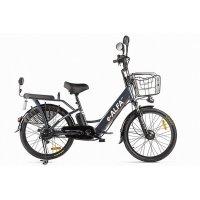 Велогибрид GREEN CITY e-ALFA new (темно-серый-2154)