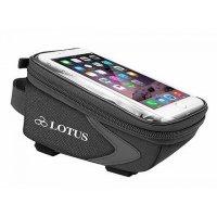 "Велосумка на верхнюю трубу Lotus SH-P25 c чехлом для смартфона с дисплеем до 5,5"""", п/э"