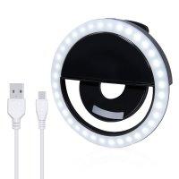 Вспышка-подсветка для телефона селфи-кольцо Selfie Ring Light RK-12 Black