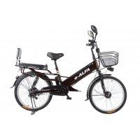 Велогибрид Eltreco e-ALFA L (black-0083)