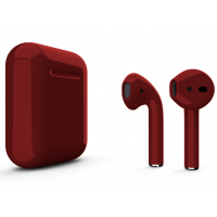 Беспроводные наушники Apple AirPods 2 (Cranberry глянцевый) (беспроводная зарядка)