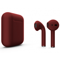 Беспроводные наушники Apple AirPods 2 (Cranberry матовый) (беспроводная зарядка)